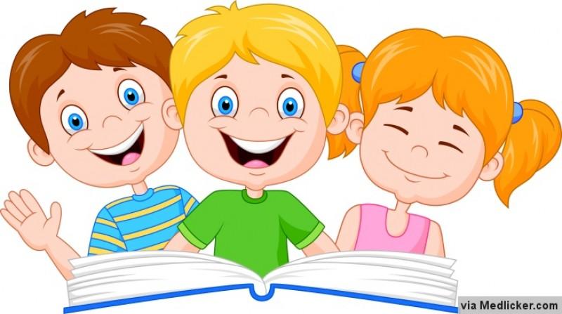 Deti Nad Knihou Kresleny Obrazek 8b9b43538f